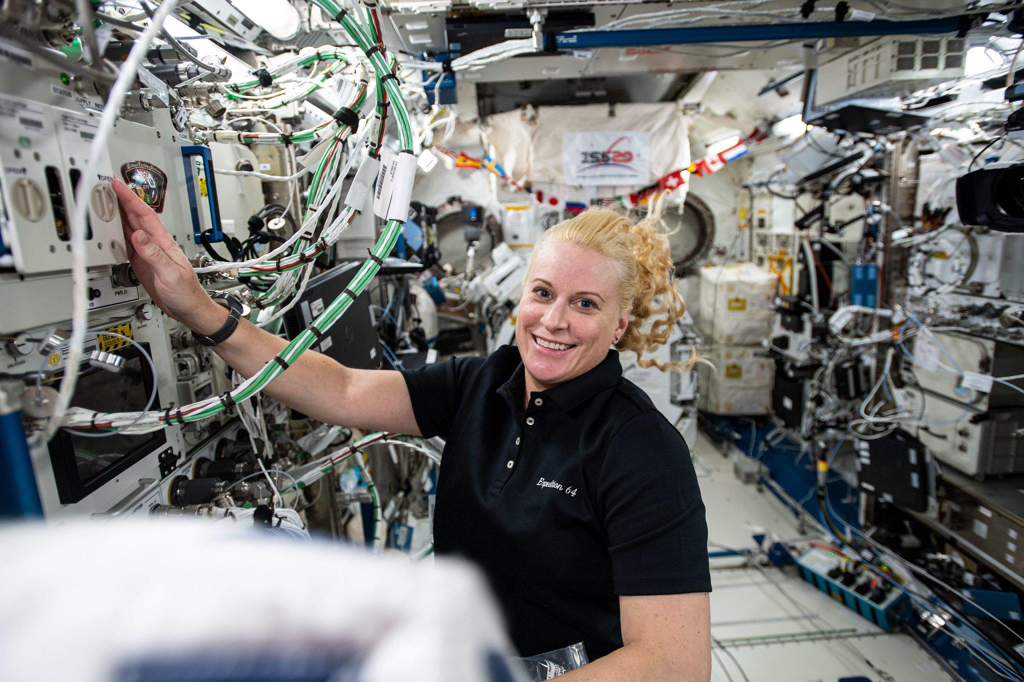 Kate Rubins aboard the ISS